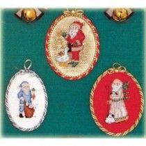 Antique Santas With Animals Christmas Cross Stitch Patterns