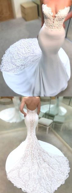 White wedding dress. Brides imagine having the most appropriate wedding, but for this they require the perfect wedding gown, with the bridesmaid's dresses actually complimenting the wedding brides dress. These are a number of ideas on wedding dresses.