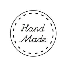 Handmade Labels - Custom Font - Set of 48 - FREE SHIPPING. $7.00, via Etsy.