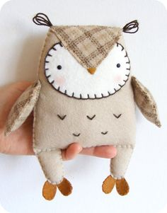 PDF pattern Felt owl softie. DIY easy sewing by iManuFatti