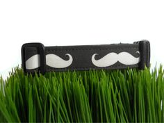 Dog collarBlack and white moustache printAny size by bwbarkery, $21.95