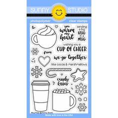 Sunny Studio MUG HUGS Clear Stamp Set SSCL141