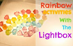 Rainbow Activities With a Lightbox |