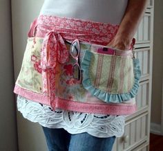 SHABBY CHIC CRAFTERS APRON by HandmaidensCottage on Etsy