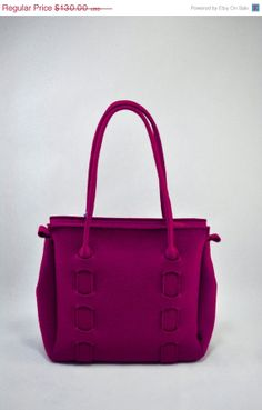 """Great Sale on Everything Purple felt bag """"Nora"""". Original, beautiful and unique. Made from natural (100% wool) felt premium quality 3mm thic..."""