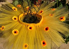 Excited to share this item from my shop: Sunflower Tutu Diy Teen Halloween Costumes, Halloween Crafts For Kids, Flower Phone Wallpaper, Wallpaper Backgrounds, Small Sunflower, Flower Costume, Tangerine Color, Fantasias Halloween, Girl Photo Shoots