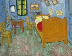 "The Bedroom 1889 Painting by Vincent van Gogh. The Art Institute of Chicago Van Gogh made three versions of this painting, depicting a room in his ""Yellow House"" in Arles, in the south of France. Art Van, Van Gogh Art, Vincent Van Gogh, Van Gogh Pinturas, Van Gogh Paintings, Van Gogh Museum, Art Museum, Dutch Painters, Oil Painting Reproductions"
