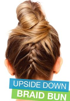 This Upside Down Braid Bun is a great hair trend and so easy to do! Maybe even I can learn this one.