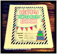 A Cupcake for the Teacher: Happy Birthday {Craftivity & Printables}
