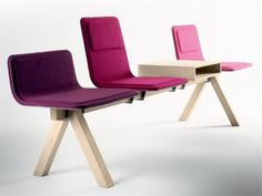 Waiting Chair on Beam LAIA by ALKI | design Jean Louis Iratzoki