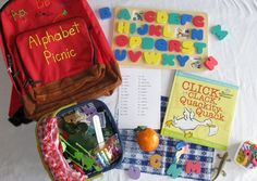 Alphabet Picnic literacy bag Literacy Bags, Education And Literacy, Teaching Schools, Preschool Literacy, Early Literacy, Preschool Ideas, Alphabet Activities, Classroom Activities, Activities For Kids