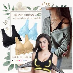Adjustable Front Strap Push-Up Lace Bra(🔥LAST DAY OF SALE 50% OFF) – enmelod