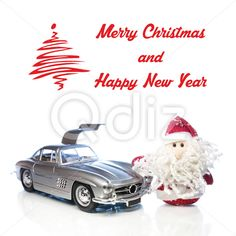 Qdiz Stock Photos | Christmas greeting card,  #auto #automobile #background #beard #car #card #celebration #Christmas #classic #Claus #Clause #closeup #decoration #delivery #doll #eve #Father #figure #frost #fun #funny #greeting #holiday #little #Merry #new #old #postcard #red #retro #Santa #small #toy #traditional #transport #transportation #vehicle #vintage #white #x-mas #xmas #year