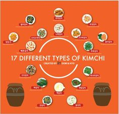 Ultimate kimchi guide for foreigners/외국인s like me. Credits to: Dom&Hyo http://domandhyo.com/2014/07/17-different-types-of-kimchi-infographic.html