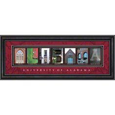 University of Alabama letter art