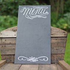 Chalkboard Menu For Weddings - The Wedding of My Dreams £50