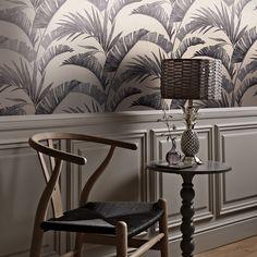 Banana Palm by Arthouse - Charcoal - Wallpaper : Wallpaper Direct Charcoal Wallpaper, Palm Wallpaper, Wallpaper Roll, Framed Wallpaper, Banana Palm, Plains Background, Tropical Design, Piece A Vivre, Life Design