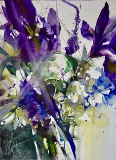 Watercolor Projects, Pen And Watercolor, Watercolor Artists, Abstract Watercolor, Watercolor Illustration, Watercolour Painting, Watercolor Flowers, Watercolours, Art Aquarelle