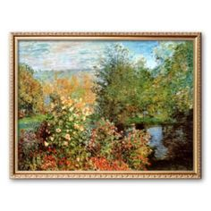 "Art.com ""Stiller Winkel im Garten von Montgeron"" Framed Art Print by Claude Monet"