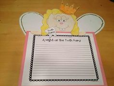 This pack is awesome and your kids will love it! There are four crafts included with directions and black line masters. There is a Tooth Writing cr...