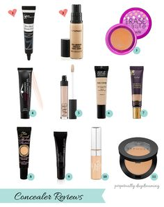 Concealer Trials: Battle of the Undereye Circles - Perpetually Daydreaming, concealer reviews, It Cosmetics, Mac ProLongwear, Nars, Tarte, Make Up For Ever, Amazing Cosmetics, Too Faced, Mary Kay