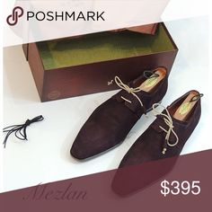 NIB Mezlan Distressed Suede shoes Actually a size 10.5, but runs big, im a size 11D and they fit me. Comes with an extra set of laces in black for a more formal look the suede is Distressed. Mezlan Shoes Oxfords & Derbys