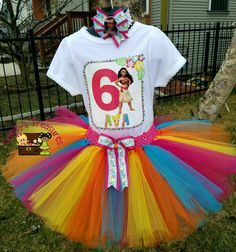 Moana Tutu Moana Birthday Outfit Moana Party by TreasuresByTrin