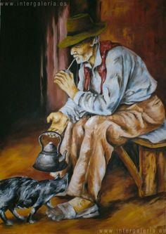 el mate Cowboy Pictures, Art Pictures, Watercolor Canvas, Watercolor Paintings, Gaucho, Arte Online, Farm Art, Modern Artwork, Country Art