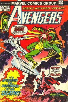 Avengers #116. The Evil Eye Saga. The Silver Surfer vs the Vision.