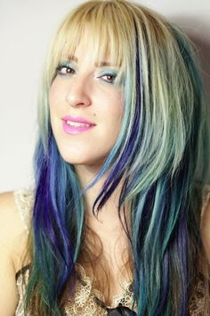 Edgy Colored Hair.