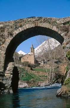 Noguera Pallaresa river, Alos d'Isil, Pallars Sobira, Lleida province, Catalonia.