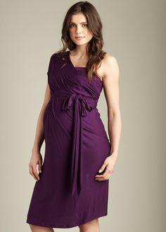 Maternal America - Convertible Miracle Dress in Grape.