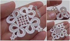 How to Crochet Wave Fan Edging Border Stitch Vintage Crochet Patterns, Crochet Motifs, Crochet Squares, Crochet Doilies, Crochet Flowers, Crochet Stitches, Irish Crochet, Diy Crochet, Tatting Jewelry
