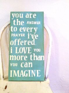 more than sayings: I love you more than you can imagine