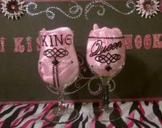 King Queen 3 4 Sleeve Baseball Tee Set By MastersImagingScreen