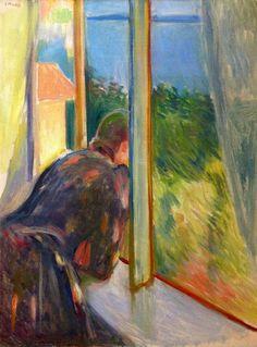 Edvard Munch - Inger by the Window, 1892 #arte
