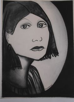 Charles Blackman ~ Portrait of a Young Girl, (charcoal on paper) Sidney Nolan, Arthur Boyd, Ned Kelly, Modern Artists, Australian Artists, Artist Art, Anxiety, Charcoal, Faces