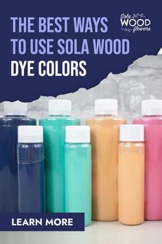 If you love to dye sola wood flowers, then this article is for you! We'll show you the 3 best ways to paint sola flowers. #diyflowers #woodflowers #solawood #diycraft #craftideas #diy #preservedflowers