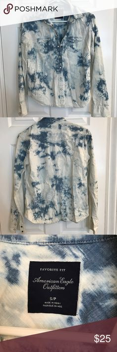 Denim Blouse Super cute button up from American Eagle. Basically brand new! Tops Button Down Shirts