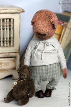 Митя и медведь - мишка,мишки тедди,тедди,авторский мишка,teddy,teddy bear