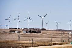 wind farm on a farm in manitoba Wind Turbine