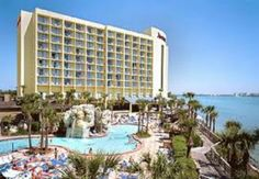 This is the Clearwater Beach Marriott Suites on Sand Key. This a smoke free resort. Across from the white sand beaches of The Gulf of Mexico.  Full service health spa. Childcare, Tour/Ticket assistance, arcade.