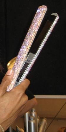 swarovski crystal flat iron