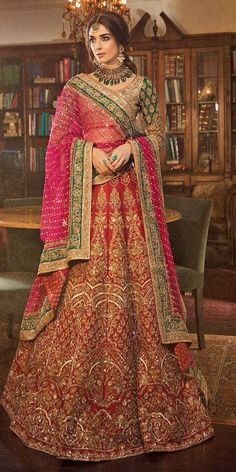30 Exciting Indian Wedding Dresses That You'll Love ❤  indian wedding dresses lehenga red sequins panachehautecouture #weddingforward #wedding #bride