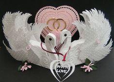 SVG File Template 3D Wedding Swans