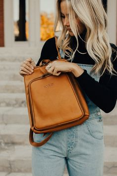 High Quality Leather Backpack | ROOLEE