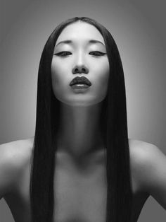 Portrait Photography Inspiration Picture Description Yiqing Yin for Magazine by Davolo Steiner Foto Portrait, Female Portrait, Nude Portrait, Black And White Portraits, Black And White Photography, Fotografie Portraits, Butterfly Lighting, The Face, Illustration Mode