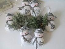 Weihnachtsdeko 6 teilig  Schneemänner