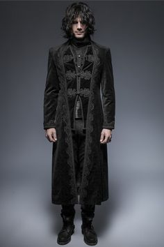 340ba2b1 Punk Rave Aristocratic Velveteen Long Coat   Pixieknix Victorian Vampire,  Victorian Gothic, Gothic Men
