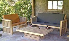bankstel_pallets_tafel Outdoor Sofa, Outdoor Furniture Sets, Outdoor Decor, Garden Plants, Home Decor, Google, Balcony, Decoration Home, Room Decor